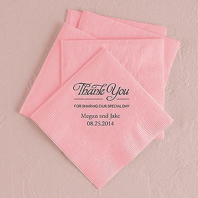 Thank You For Sharing Printed Napkins   Confetti.co.uk