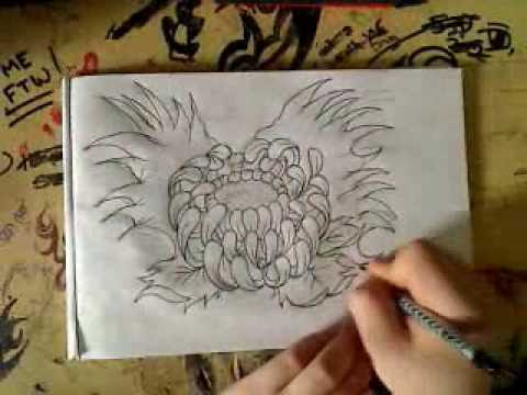 Japanese Flower Drawing At Getdrawingscom Free For Personal Use
