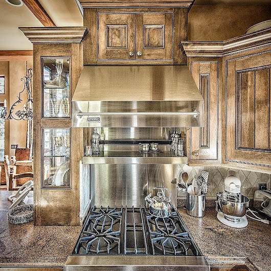 Eagle's Nest Estate, San Juan Islands, Washington — Rustic kitchen in the Guest House of Eagle's Nest...