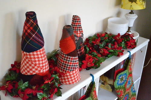 Fabric Trees with stockings
