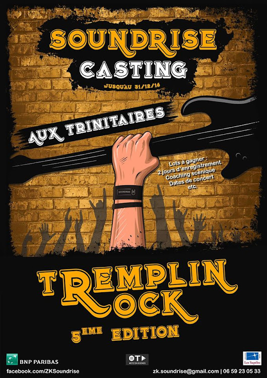 Appel à candidature - Tremplin Rock Soundrise • Lorraine d'Arts