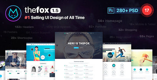 TheFox | Multi-Purpose PSD Template by tranmautritam | ThemeForest