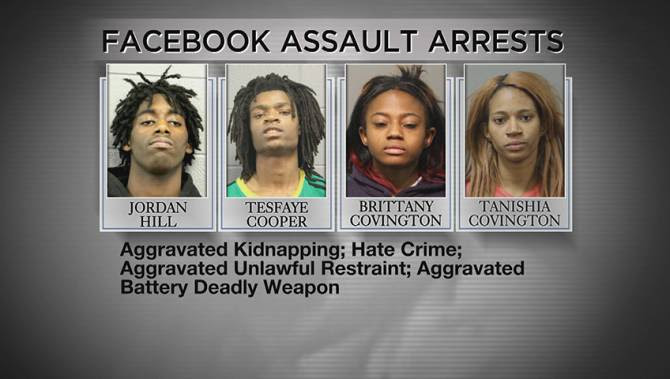 Risultati immagini per White Man tortured on Facebook Live by 4 Blacks