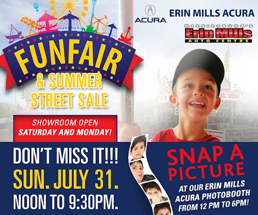 Join Us for the 2016 EMAC Fun Fair & Summer Street Sale! | Erin Mills Acura - Proudly serving the GTA and its surrounding communities