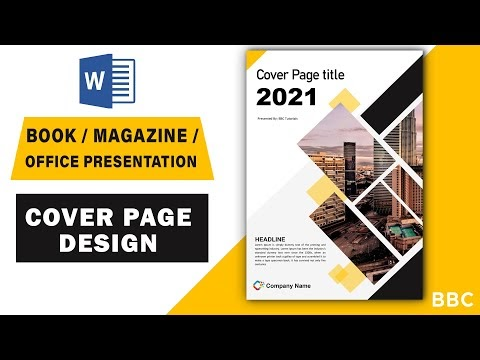 Magazine Cover Page Design in Word