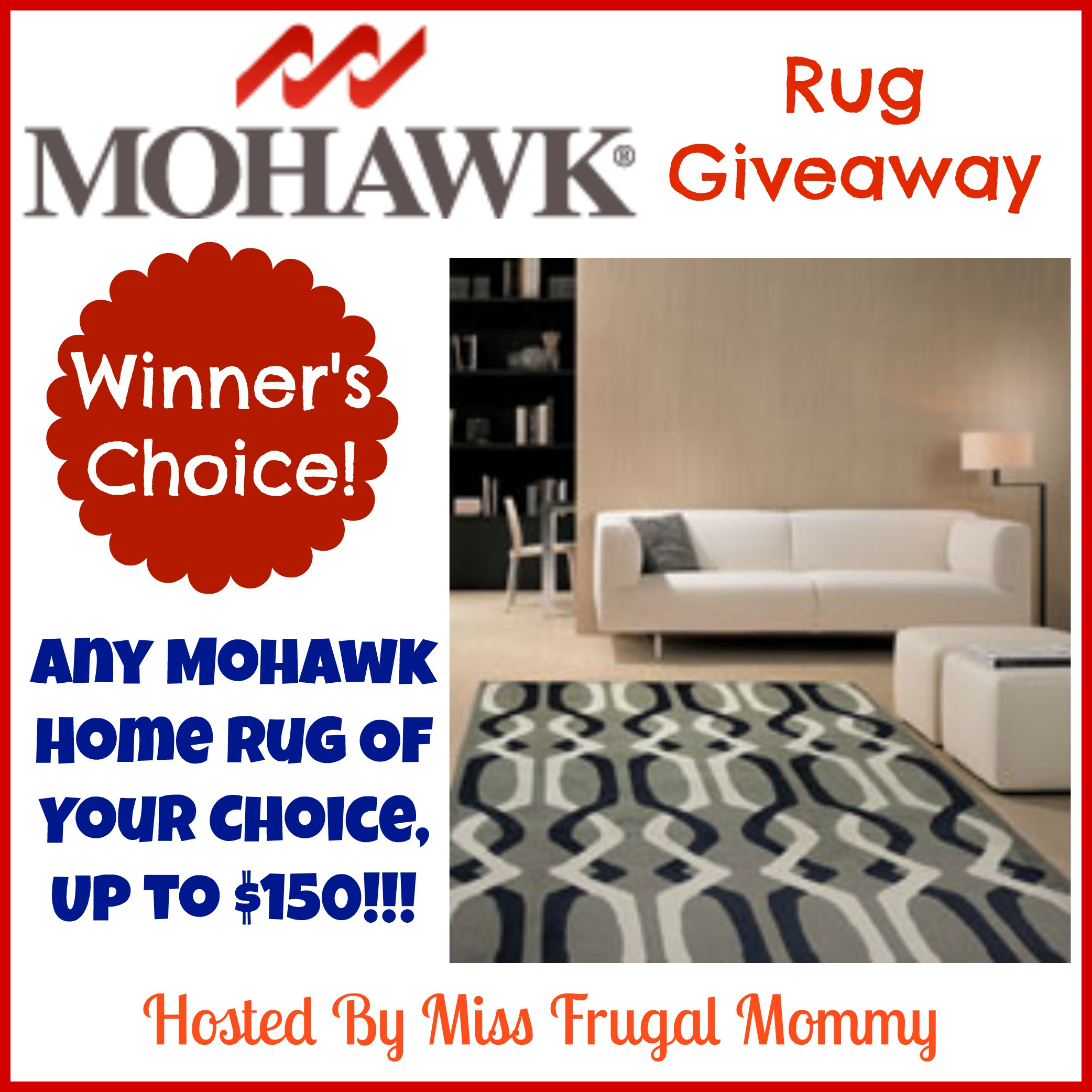 Enter the Mohawk Rug Giveaway. Ends 5/4.