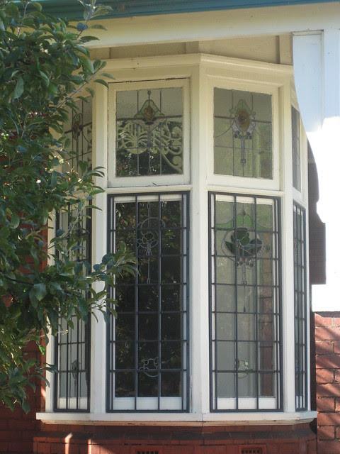 Art Nouveau Stained Glass Bay Window - Elwood