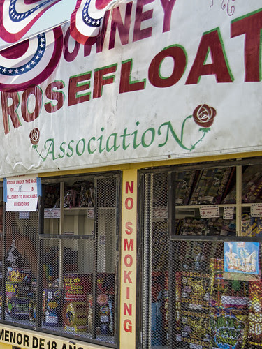 Rose float fireworks booth