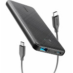 [Upgraded] Anker PowerCore Slim 10000 PD, 10000mAh Portable Charger USB-C Power Delivery (18W) Power Bank for iPhone 11/11 Pro / 11 Pro Max / 8 / X/XS