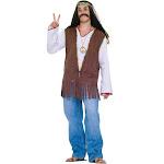 Forum Novelties Men's Hippie Vest Costume, Brown, One Size
