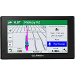 "Garmin - DriveSmart 51 LMT-S 5"" GPS with Built-In Bluetooth, Lifetime Map and Traffic Updates - Black"