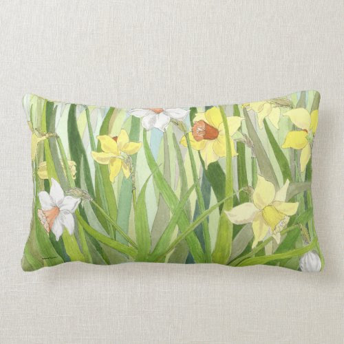 Daffodil Fields Lumbar Pillow