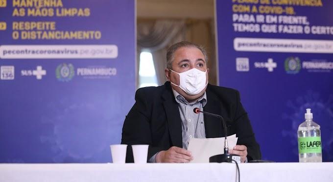 Secretário de Saúde diz que Pernambuco poderá adotar medidas mais restritivas nos próximos dias.