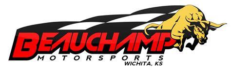 racing logo design  beauchamp motorsports wichita