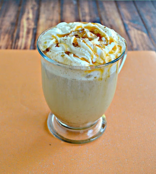 Salted Caramel Pumpkin Latte #PumpkinWeek - Hezzi-D's Books and Cooks