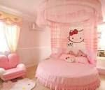 Decorations, Round Bed With Hello Kitty Decoration Theme For Kids ...