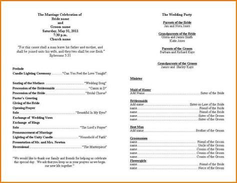 Wedding ceremony program template   Authorization Letter Pdf