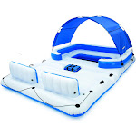Bestway CoolerZ Tropical Breeze 6 Person Floating Island Pool Lake Raft Lounge at VM Express
