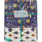 Wrappily Eco Gift Wrap Co. Reversible Wrapping Paper Pax Noel/ Baubles 6 Sheet(s)