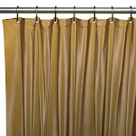 Carnation Home Fashions USC-8 Hotel Collection 8 Gauge Vinyl Shower Curtain Liner, Gold