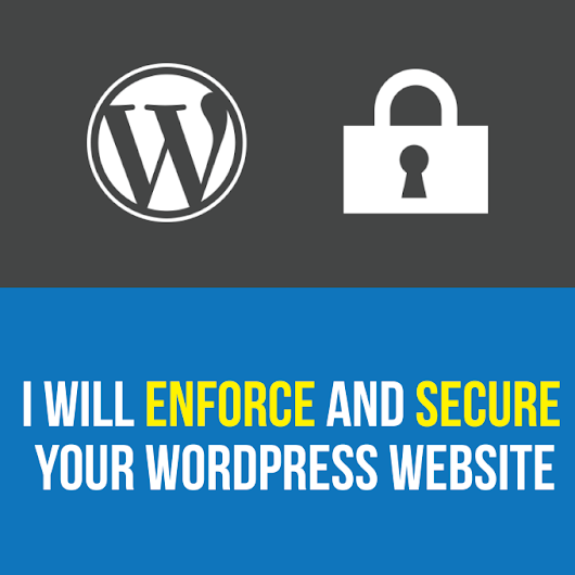 I will enforce and secure your WordPress website
