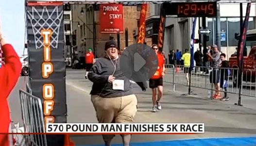 Inspiring Story: 500+ Pound Man Finishes First 5K Race