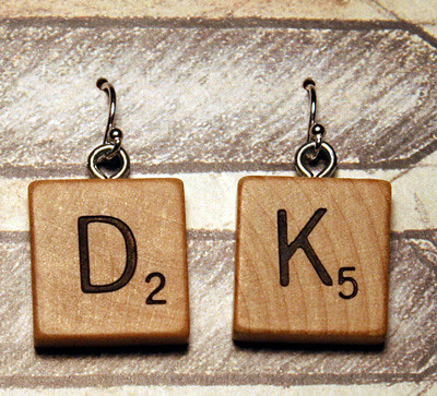 Another pair of Scrabble earrings