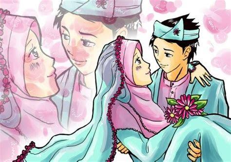 gambar kartun muslim  muslimah lucu banget terbaru