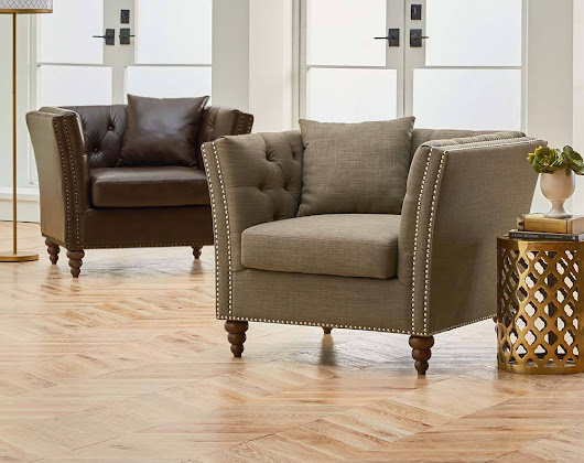 Featured Friday: Westerly Chocolate Accent Chair