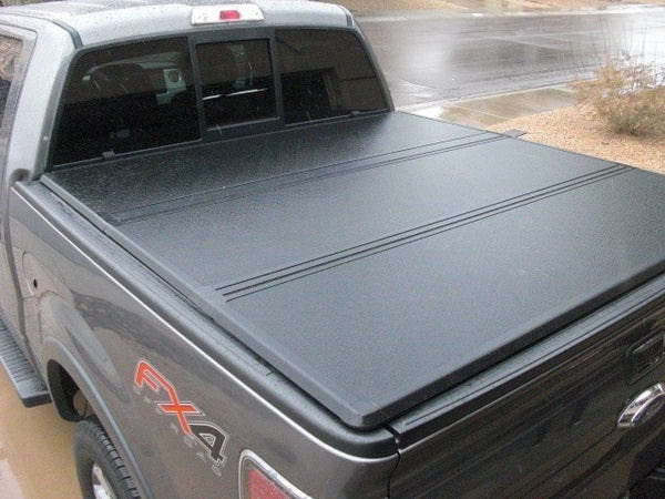 Angry Elephant Hard Tri Fold Tonneau Cover For 2004 2016 Ford F150 6 Ft 6 Inch Bed