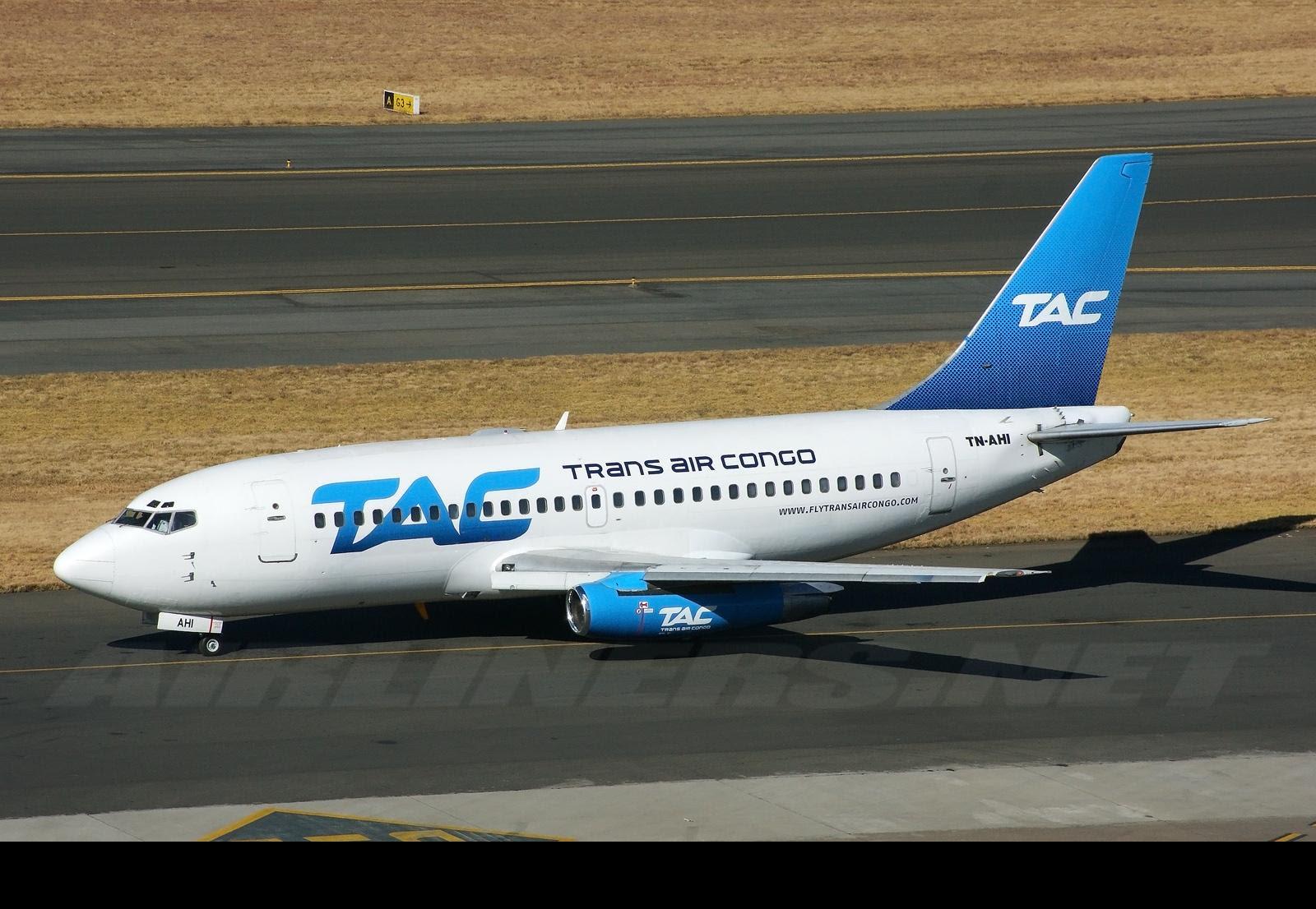 Trans Air Congo 737 Johannesburg