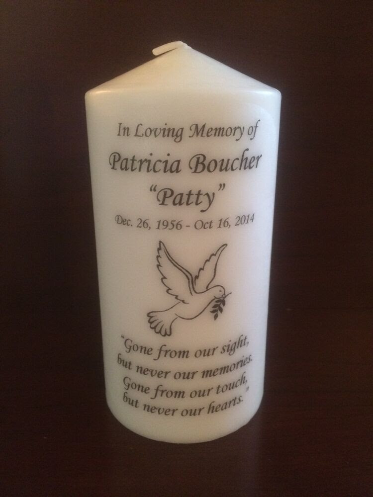 """6"""" Memorial Candle, Wedding Candle, Funeral Candle ..."""