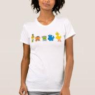 Pixel Sesame Street Characters Tee Shirt