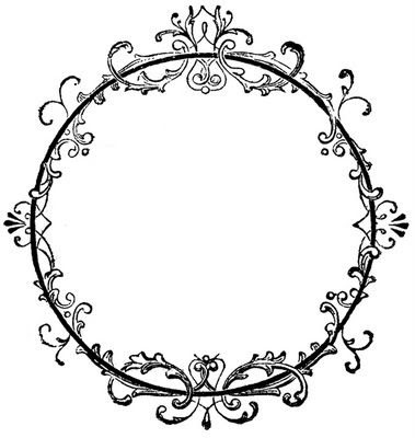 Vintage Clip Art - Old Ink Label - Lacey Graphic Frame   Circles ...
