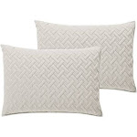 """Emily Solid Embossed Quilt Other Standard Single Standard Sham - 20"""" x 26"""" Ivory"""