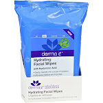 Derma E Hydrating Facial Wipes, Dry - 25 wipes