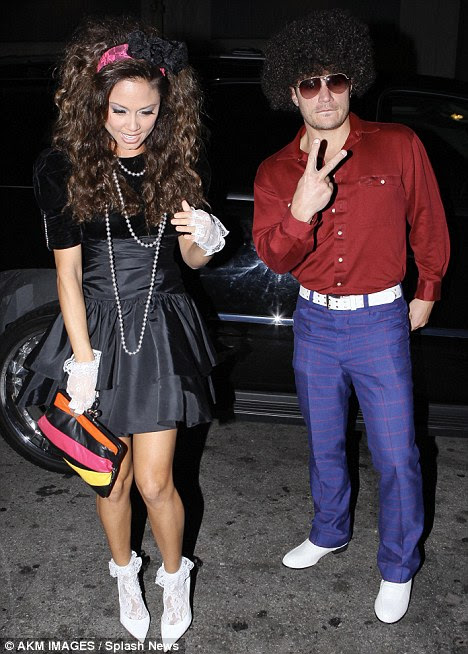 Saturday Night Fever: The newly-engaged couple looked in high spirits as they arrived at Beso where they were celebrating Vanessa's friend's birthday