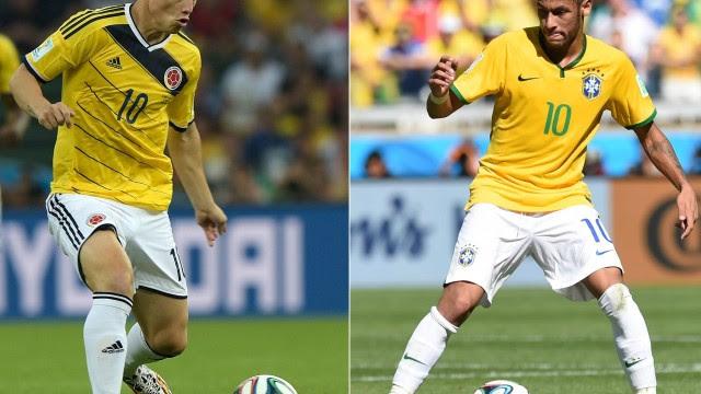 Compreenda o estilo de jogo dos craques de Brasil e Colômbia