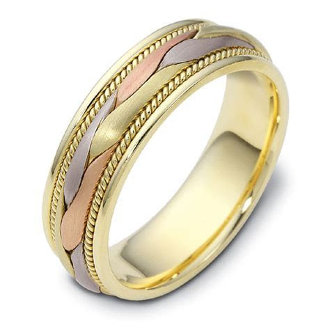 Men's Braided Two Tone Gold Band #313   Seattle Bellevue