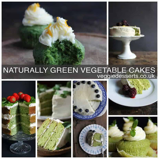 Naturally Green Cakes for St Patrick's Day | VEGGIE DESSERTS