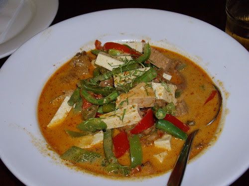 panang curry at green palace