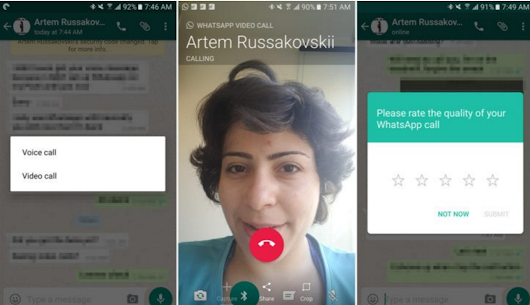 WhatsApp Messenger v 2.17.69 apk loaded with Video calling features.