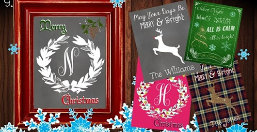 *BOGO SPECIAL* Personalized Festive Holiday Printables