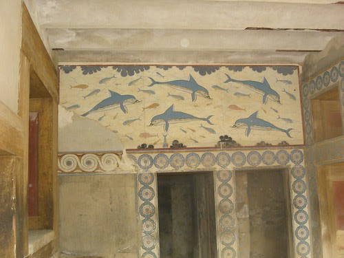 famous dolphins fresco