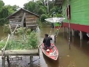 Atalaia do Norte passou a integrar lista de cidades em emergência  (Foto: Reprodução/TV Amazonas)