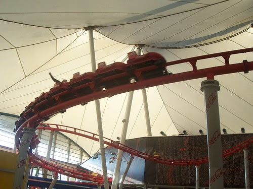 Indoor roller coaster inside the mall-1