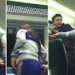 'I'll f****** smash your face in': Shocking mobile phone footage shows teenage GIRL hitting and threatening men on train