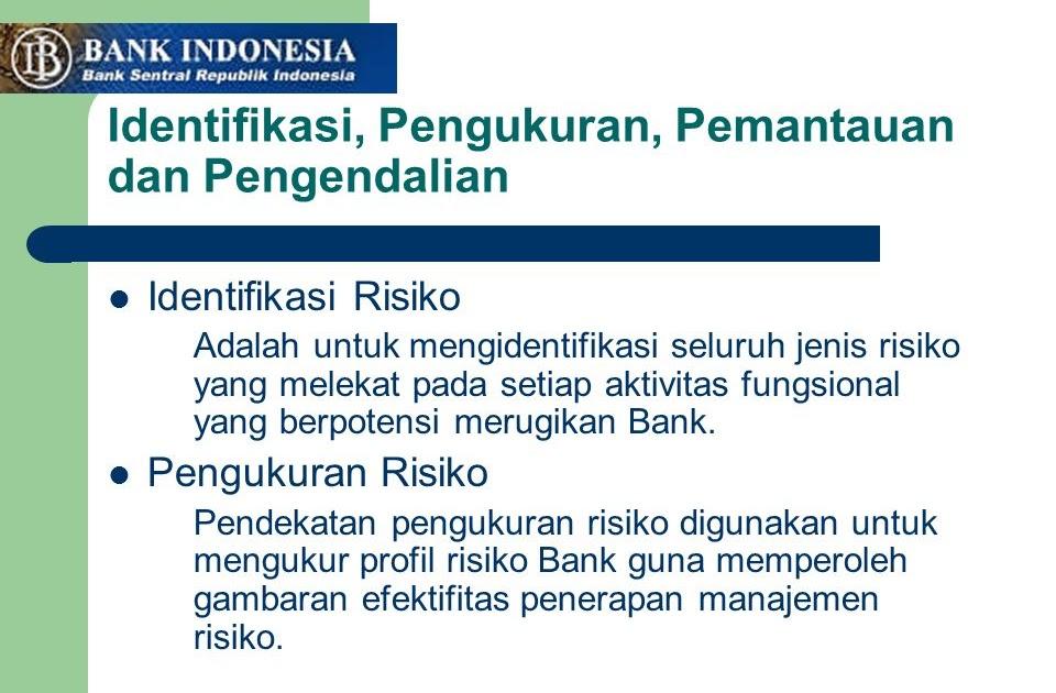 8 Jenis Risiko Menurut Bank Indonesia