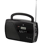 GPX - Portable AM/FM Shortwave Radio - Black