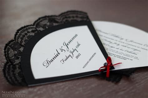 Wedding Invitation Fans   Real Weddings Stationery by